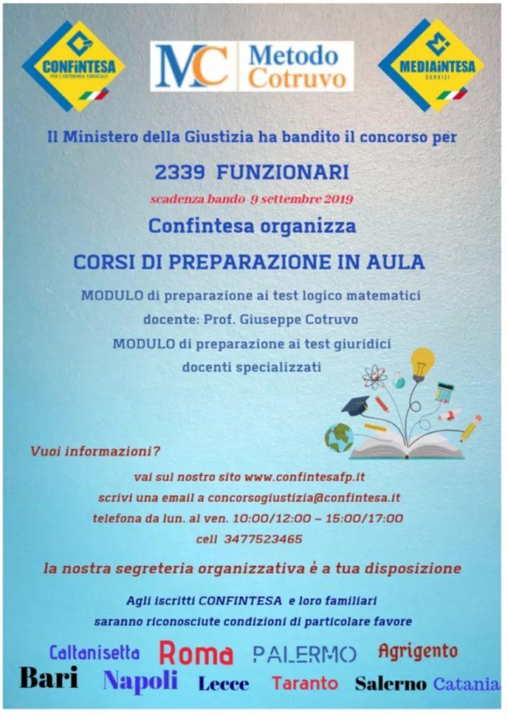 Corso di preparazione per funzionari giudiziari con METODO COTRUVO!